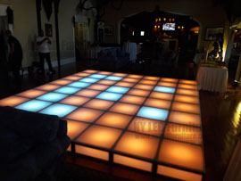 Holiday Party LED Dance Floor Rental Fort Lauderdale
