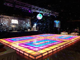 Illuminated Dance Floor Rental Miami