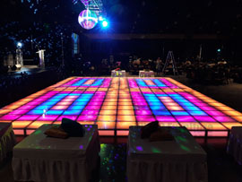 Illuminated Disco Dance Floor Rental Miami