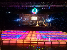Illuminated Saturday Night Fever Dance Floor Rental Miami