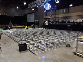 LED Dance Floor Rental Miami Set Up