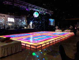 Light Up Dance Floor Rental Miami