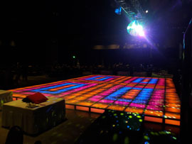 Light Up Disco Dance Floor Rental Miami