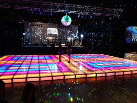 Light Up Saturday Night Fever Dance Floor Rental Miami