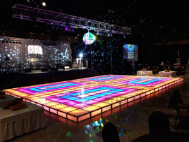 Lighted Disco Dance Floor Rental Miami