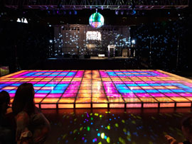 Lighted Saturday Night Fever Dance Floor Rental Miami