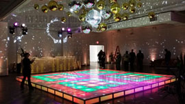 Light Up Dance Floor Rental Orlando Wedding